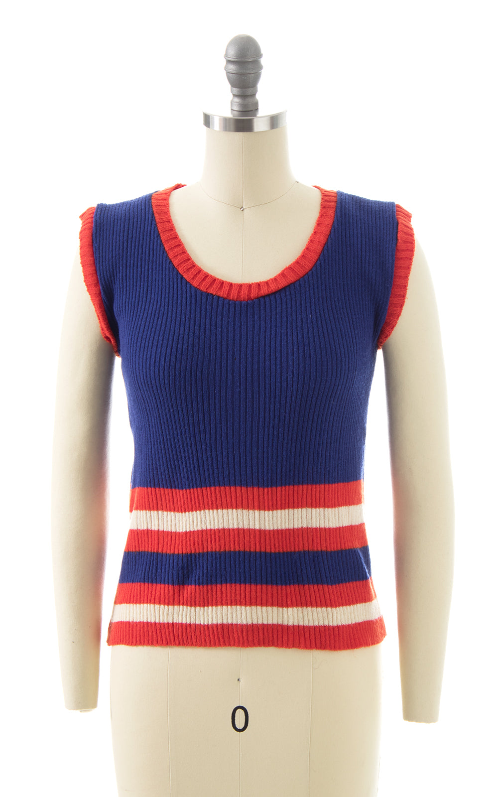 1970s Striped Sweater Vest