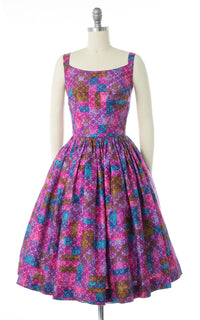 1960s Geometric Printed Cotton Sundress