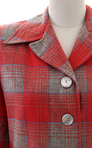 1950s Pendleton 49er Plaid Wool Jacket