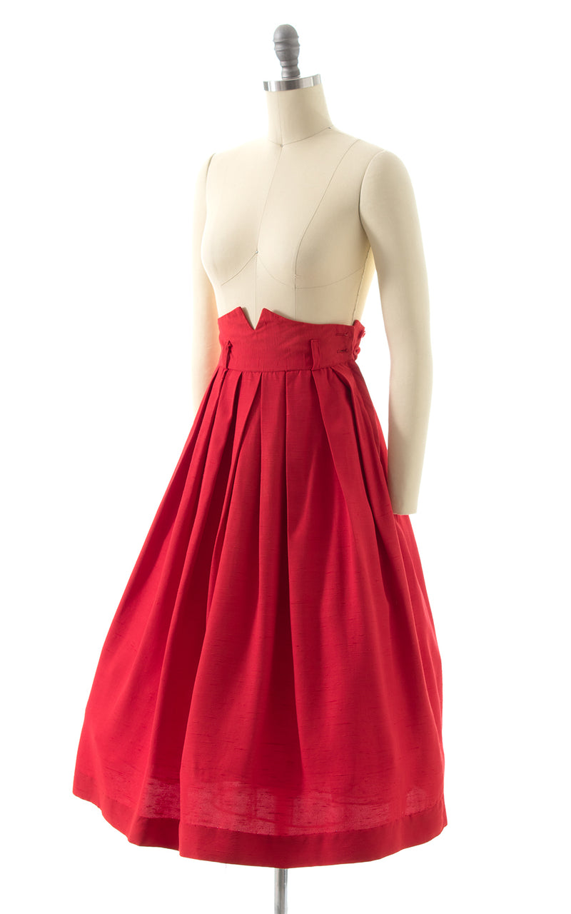 1940s Extra High Waist Skirt