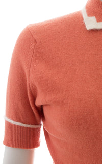 1950s Peach Wool & Angora Sweater To