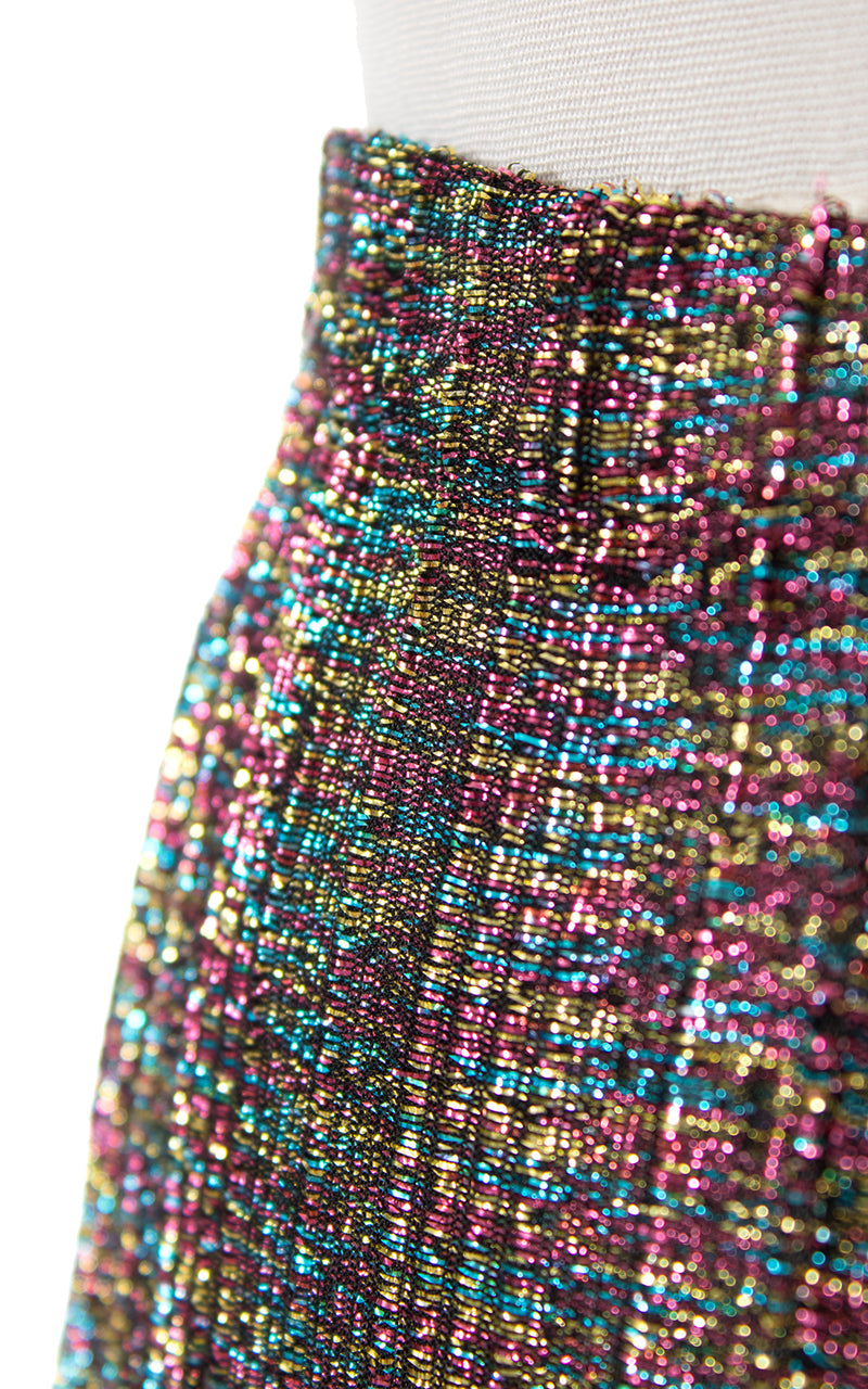 1970s Metallic Rainbow Wide Leg Pants