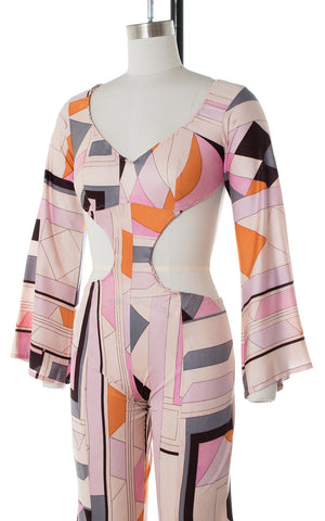 1960s Pucci Inspired Cutout Jumpsuit