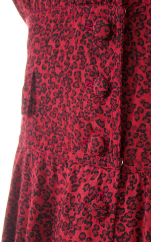 1980s Leopard Print Rayon Shirtwaist Dress