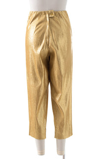 1950s Metallic Gold Lamé Cigarette Pants