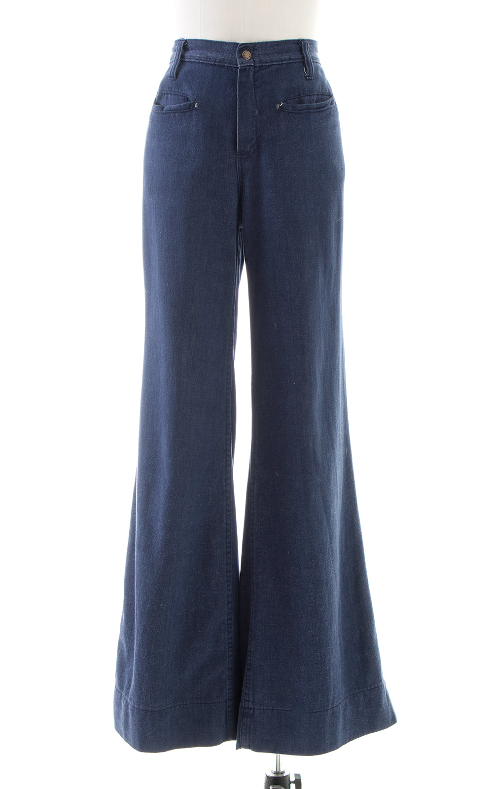 1970s Plush Bottoms Wide Leg Denim Jeans