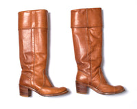 1970s Frye Leather Knee High Campus Boots