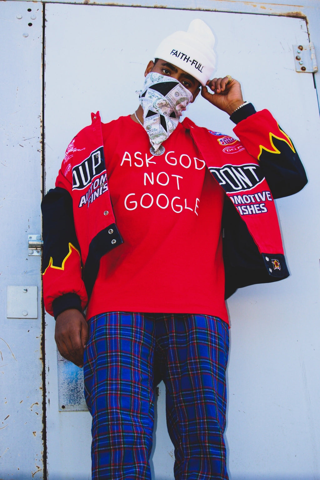 Ask God Not Google E-Shirt