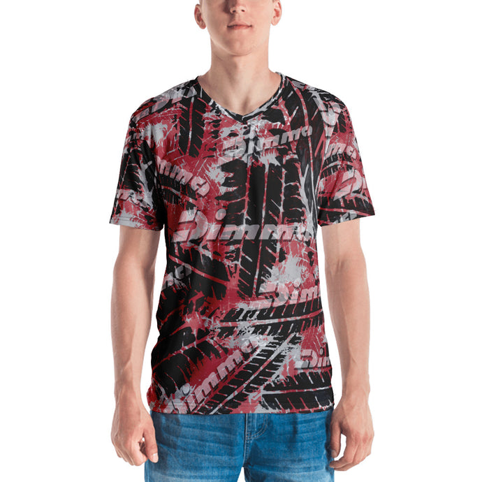 Dimma Tyre Pattern T-Shirt Cherry Red