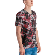 Load image into Gallery viewer, Dimma Tyre Pattern T-Shirt Cherry Red
