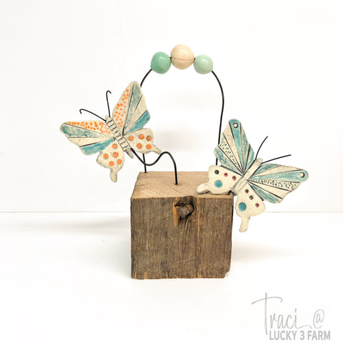 Barn Butterflies Assemblage Sculpture No. 2