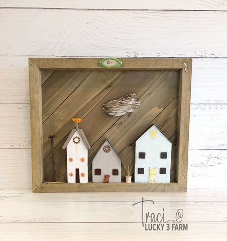 Rustic Framed Village