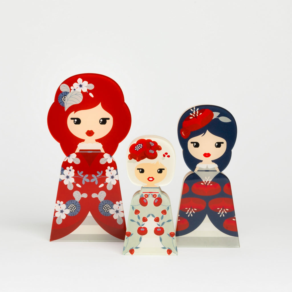 Flower Head Red Collection - Lil' Ledy Figurines