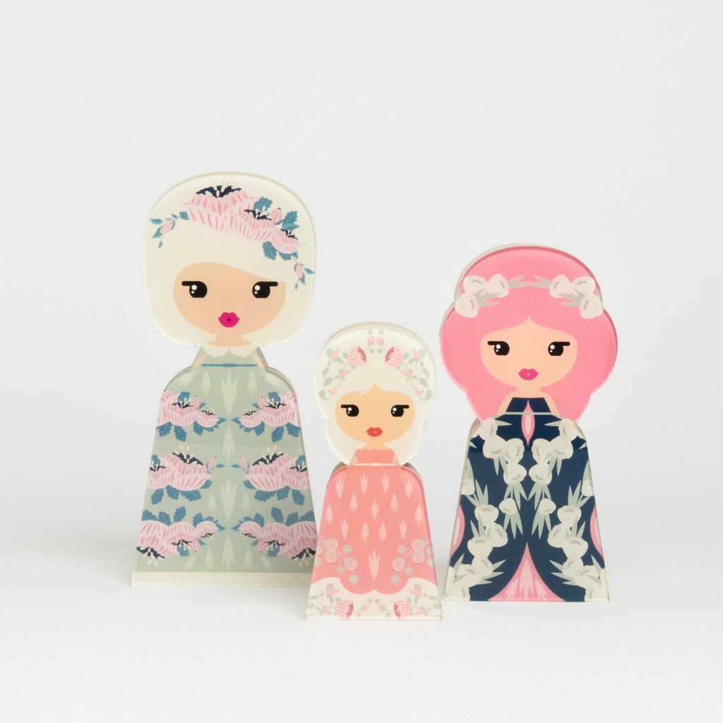Flower Head Pink Collection - Lil' Ledy Figurines
