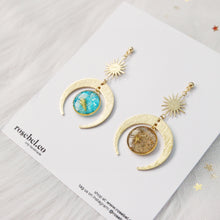 Load image into Gallery viewer, *NEW* Sun, Moon and Sea Earrings