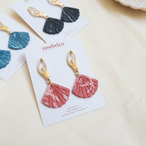 Ballerina Studs with Marbled Scallop Shells