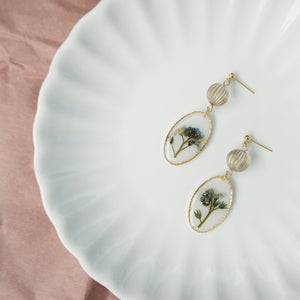 Forget-Me-Not Oval Earrings
