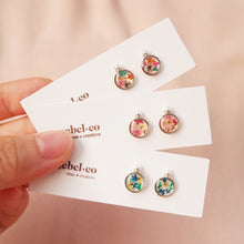 Load image into Gallery viewer, Flora-filled Mini Stud Earrings