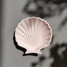 Load image into Gallery viewer, Scallop Shell Dish in Peach Terrazzo