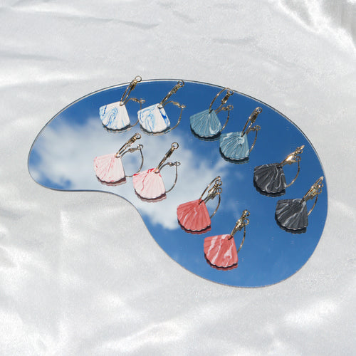 Marbled Scallop Shell in Hoops (Pre-order)