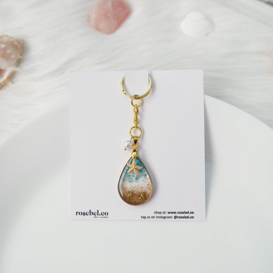 Maldives Teardrop Beach Keychain