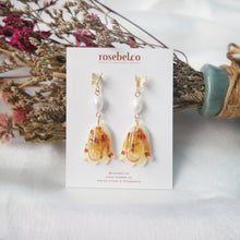 Load image into Gallery viewer, Blooms & Butterfly Earrings in Yellow