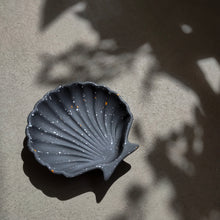 Load image into Gallery viewer, Scallop Shell Dish in Dark Terrazzo