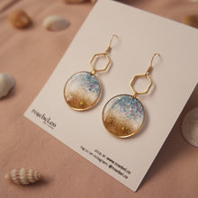Load image into Gallery viewer, Circle + Hex Seaside Earrings