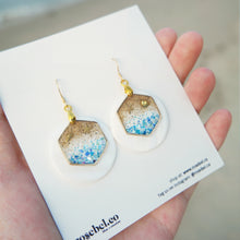 Load image into Gallery viewer, Hex Abalone Shell Seaside Earrings