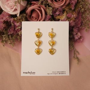 *CUSTOMIZABLE* Mini Hearts Floral Earrings