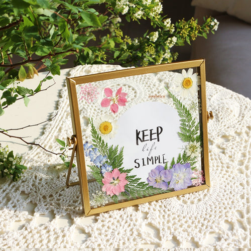 DIY 15cm by 15cm Pressed Flower Frame Kit