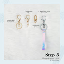 Load image into Gallery viewer, Rose Quartz X Holo Gemstone Keychain