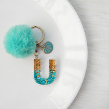 Load image into Gallery viewer, Turquoise X Gold Gemstone Keychain