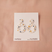 Load image into Gallery viewer, Circle Outline Funfetti Earrings