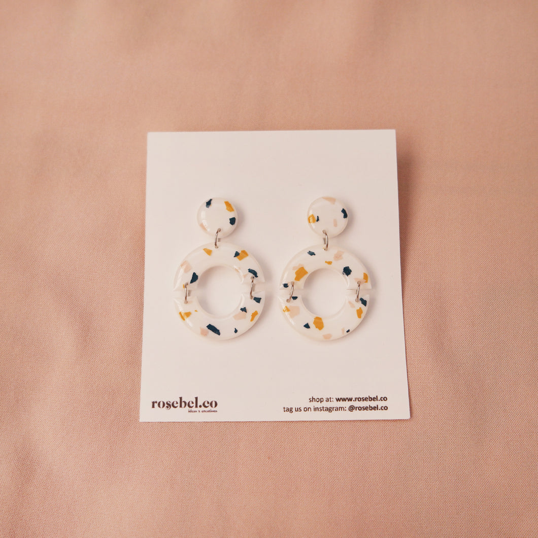 Circle Outline Funfetti Earrings