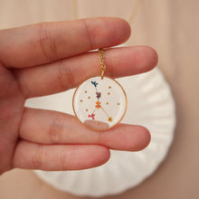Load image into Gallery viewer, *INSTOCK* Floral Horoscope Necklace (Only Libra and Cancer)