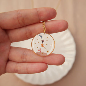 *INSTOCK* Floral Horoscope Necklace (Only Libra and Cancer)