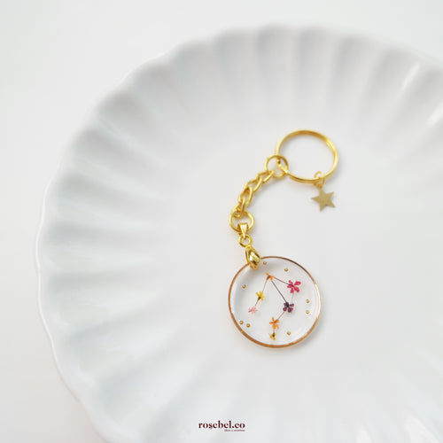 *PREORDER* Floral Horoscope Keychain