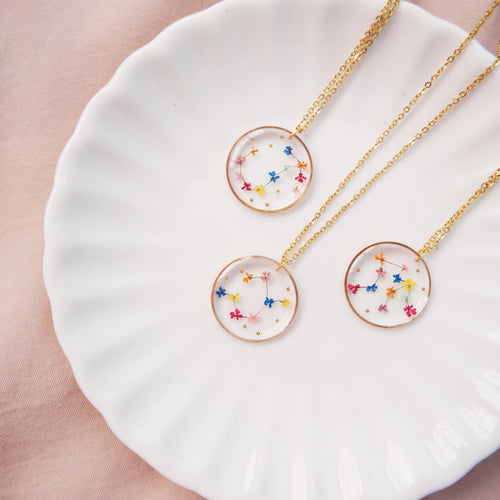 *PREORDER* Floral Horoscope Necklace
