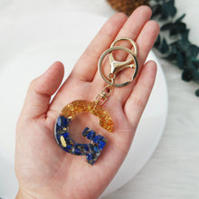 Load image into Gallery viewer, Lapis Lazuli X Gold Gemstone Keychain