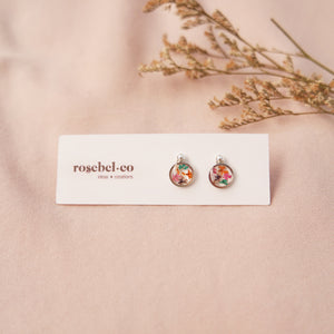 Flora-filled Mini Stud Earrings