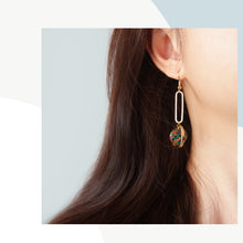 Load image into Gallery viewer, Flora-filled Revolver Drop Earrings