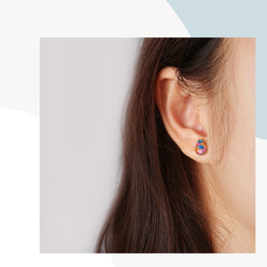Flora-filled Droplet Mini Studs