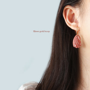 Marbled Tulip Shell in Hoops (Instock 4 Colours)