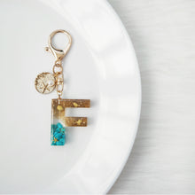 Load image into Gallery viewer, Turquoise X Beach Gemstone Keychain