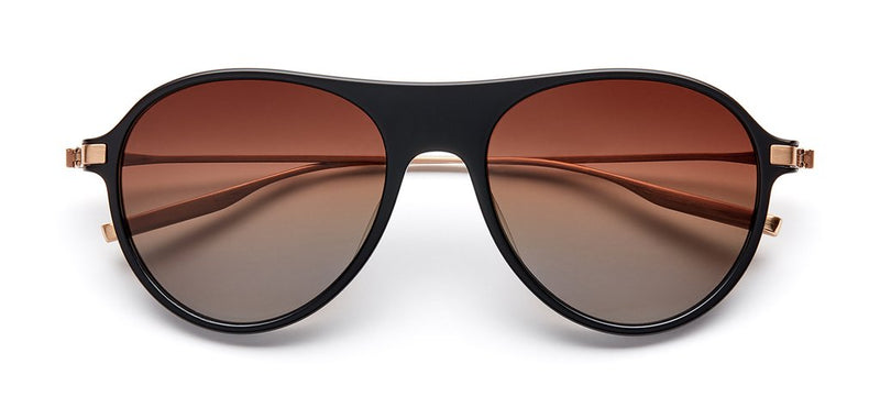 SALT Sunglasses St Hubbins Matte Black Brushed Honey Gold