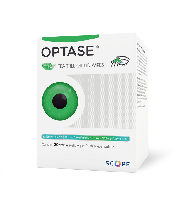 Optase Tea Tree Oil Eyelid Wipes for Blepheritis