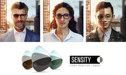 Hoya Sensity - react to light - photochromic lenses