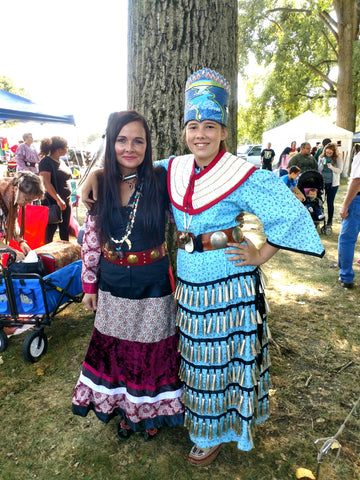 Ayasha Loya and Cousin Riley at the Powwow 2017