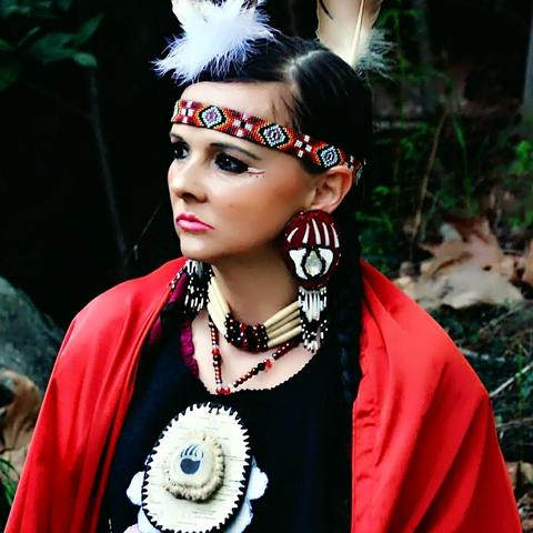 Ayasha in Regalia - Native American Anishinaabe
